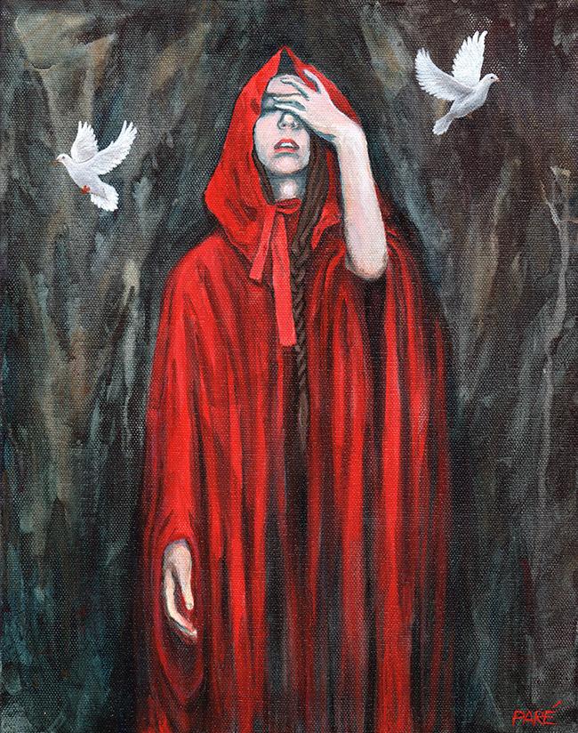 Red Riding Hood 11x14 acrylic