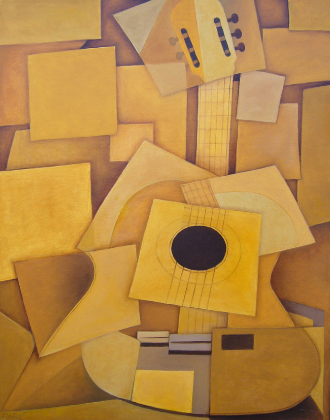My Cubist Guitar 22x28 oil