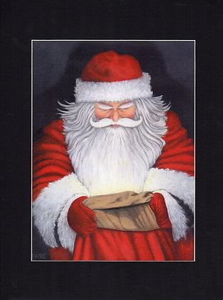 """""""Santa's Magic Bag"""" matted print"""