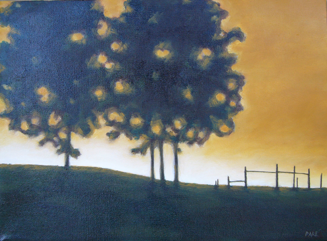 Sundown in Ochre 11x14 oil