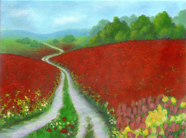 Red Meadow Road - oil