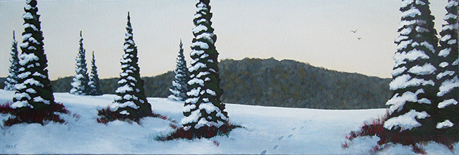 Winter Scene 10x20 oil