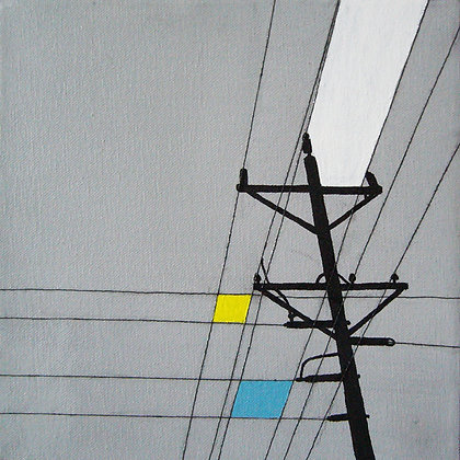 """Telephone Poles"" set of 6 paintings"