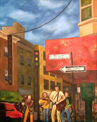 """Pine Street"" oil on canvas 16x20"