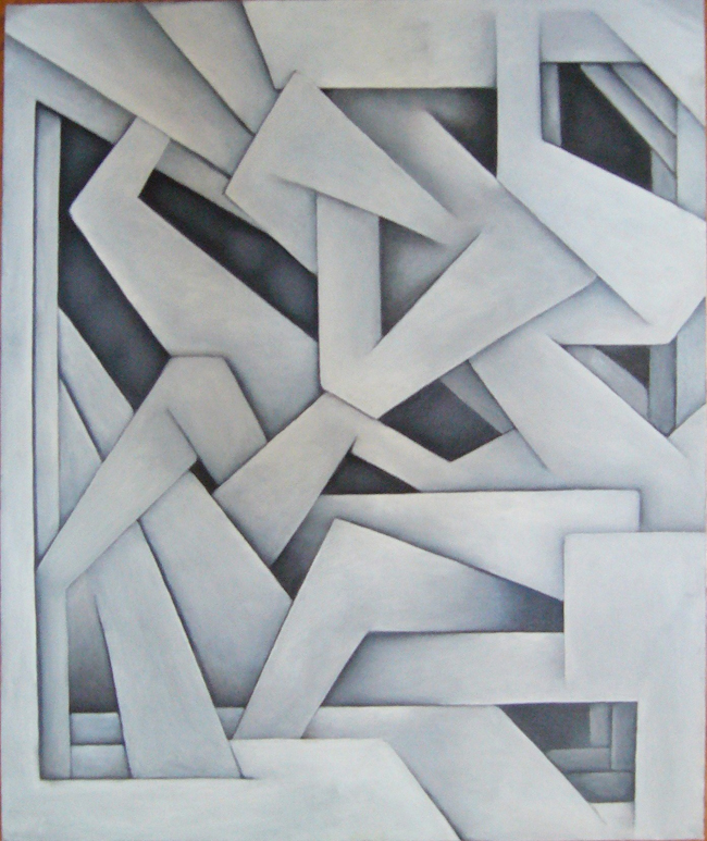 Labyrinth in Gray 20x24 oil
