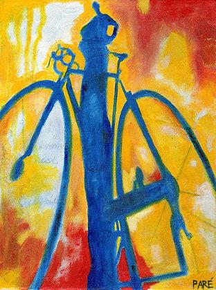"""My Shadow"" acrylic 9x12"