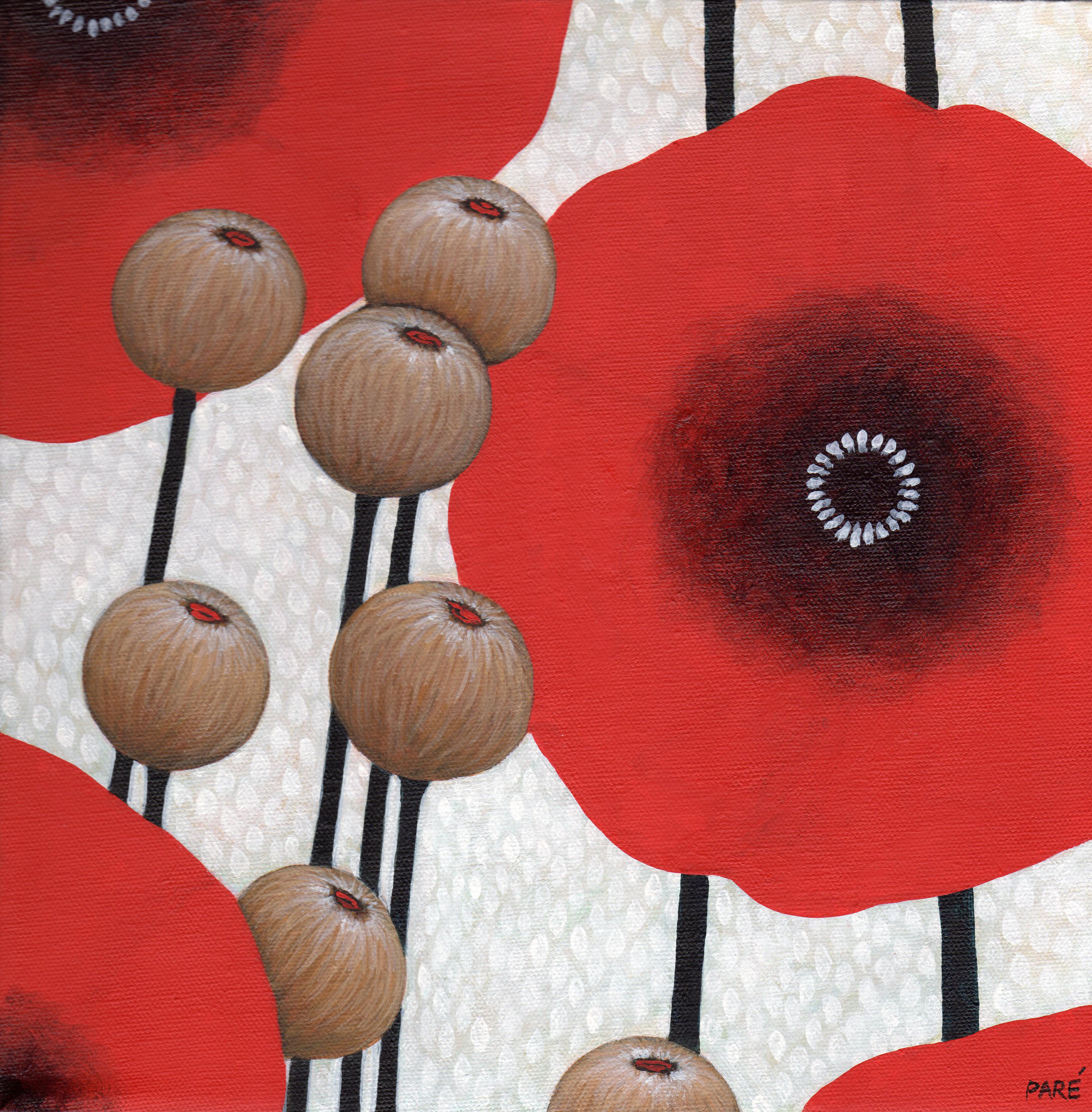Poppies 12x12 acrylic