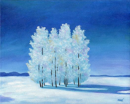 """""""Wintry Dawn"""" oil on canvas 8x10"""