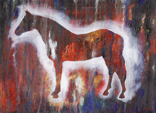 Horse 9x12 oil