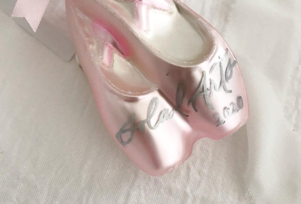 Personalized Pointe Shoe Ornament