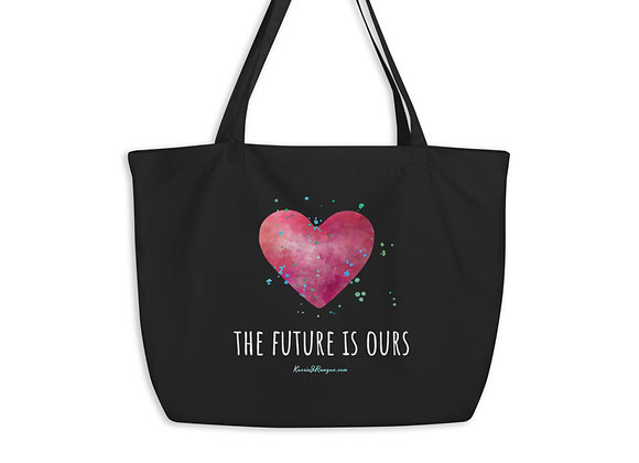 the future is ours Large organic tote bag