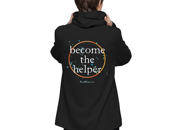 Become The Helper Unisex Lightweight Hoodie