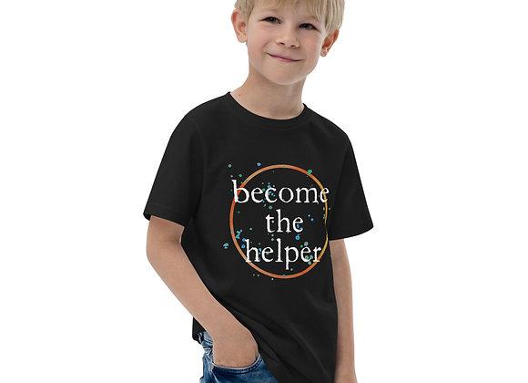 Become The Helper Light Font Youth jersey t-shirt