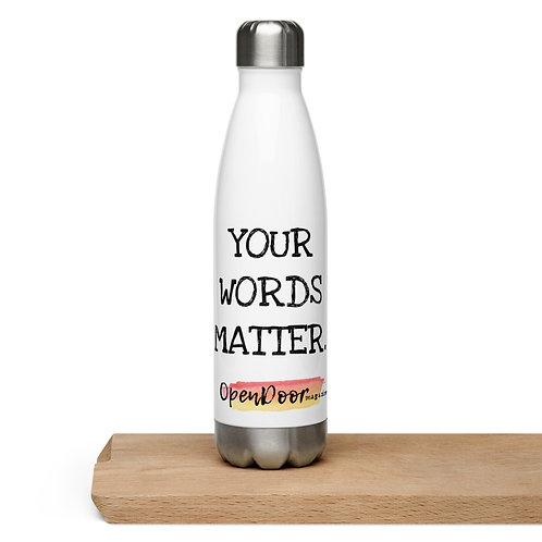 OpenDoor Magazine Stainless Steel Water Bottle