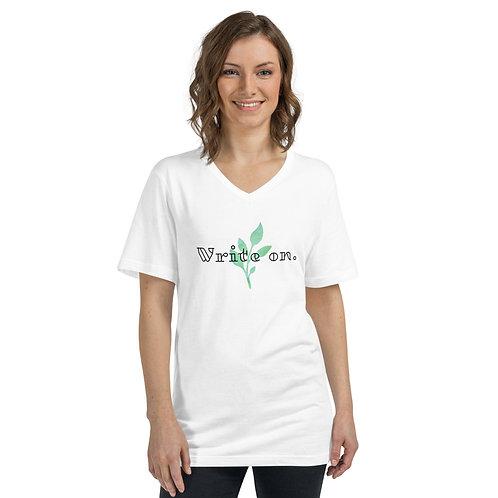 Write On Unisex Short Sleeve V-Neck T-Shirt