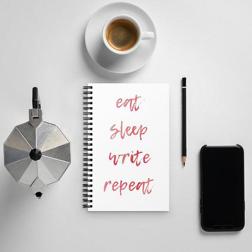 eat sleep write repeat Spiral notebook
