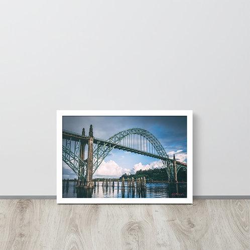 Newport Bridge Framed poster