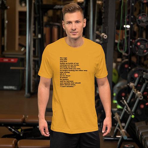 """I Can't Breathe"" Short-Sleeve Unisex T-Shirt"