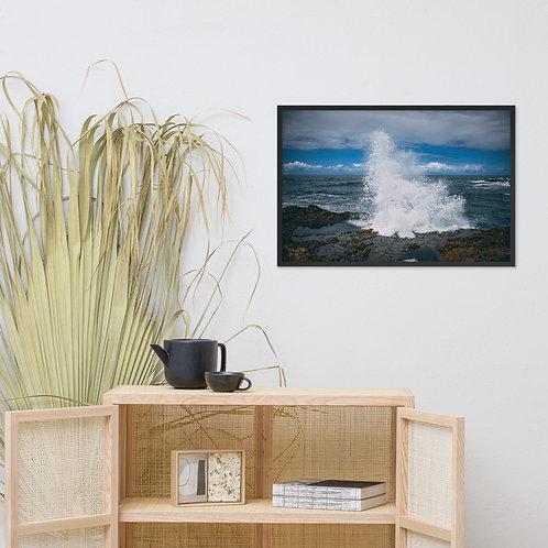 Oregon Wave Framed poster