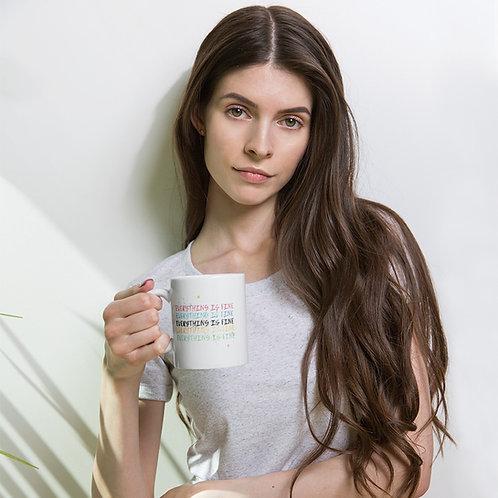 everything is fine White glossy mug