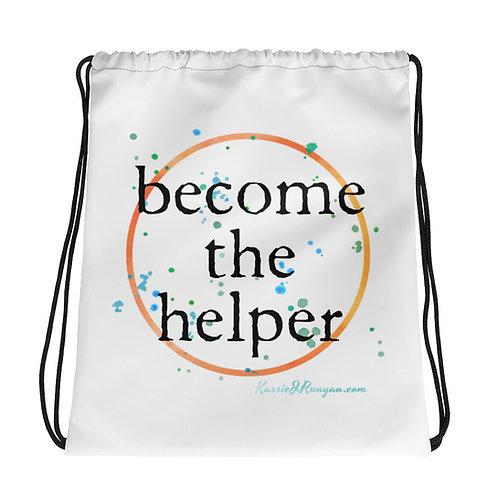 become the helper Drawstring bag