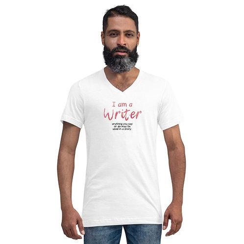 I'm a writer Unisex Short Sleeve V-Neck T-Shirt