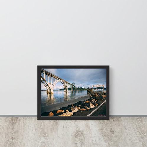 Newport Bayfront Framed poster