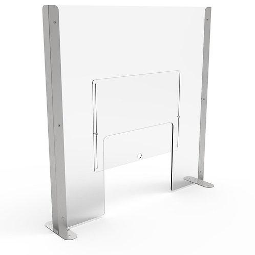 Acrylic Sneezeguard Screen with Hatch & Hatch Door