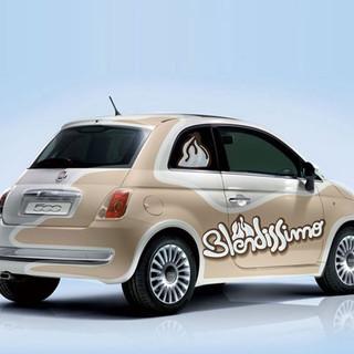 Fiat 500 car wrap