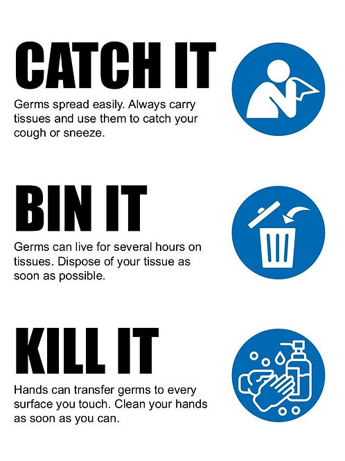 CATCH IT, BIN IT, KILL IT - Sign