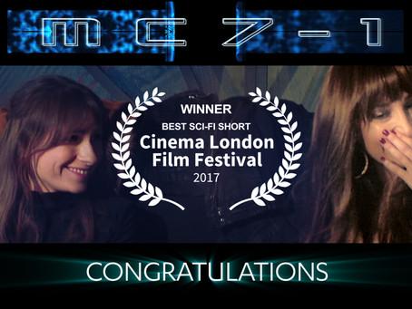 WINNER!!! 'MC7-1' - BEST SCI-FI SHORT, CINEMA LONDON FILM FESTIVAL 2017