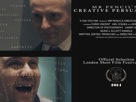 Watch my second festival short film - The intense twisted Thriller 'Mr Pencil's Creative Per