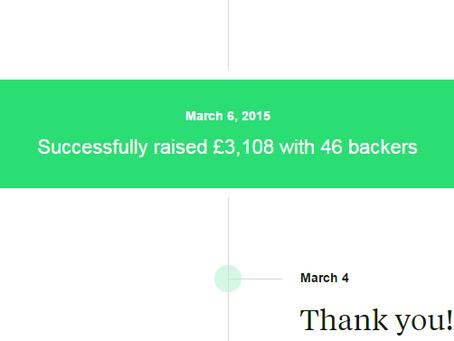 WE DID IT! Successful Kickstarter Campaign for 'MC7-1'.