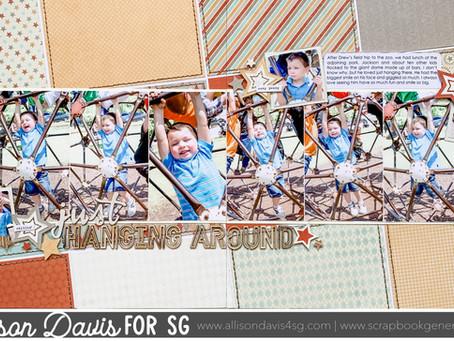 "Easy 6x6"" Paper Design | Slanted Background"