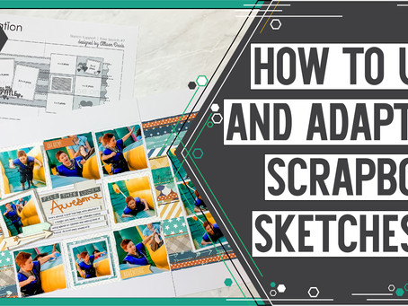 Scrapbooking Sketch Support YouTube Video