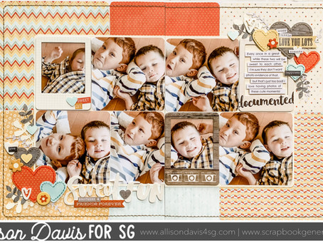 Scrapbooking Quick Tip: Using a Corner Rounder to Soften a Layout Design