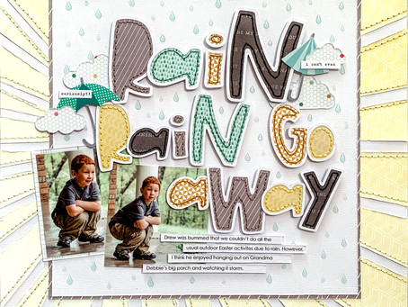 Scrapbooking Design Tip: Using Nuvo Drops to Create Rain Drops + New YouTube Video