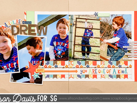 Scrapbooking Quick Tip: Stitching On Foam Letters or Words