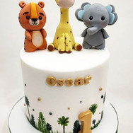 Animal characters kids cake.JPG