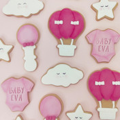 Pink baby girl baby shower cookies Brisb