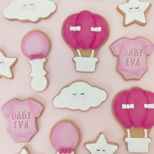 Baby shower / Baby announcement cookie set