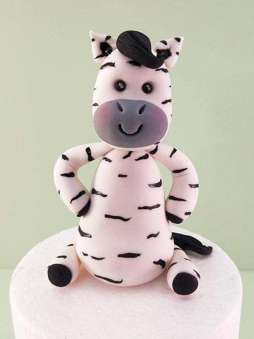 Step-by-step cake topper tutorial - Baby Zebra