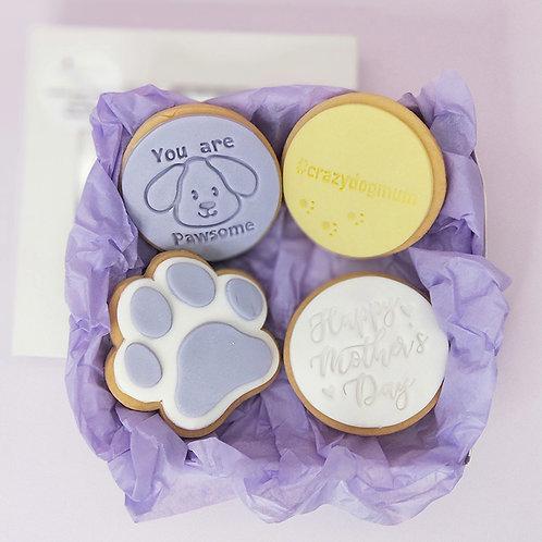 Personalised Dog mum cookie set
