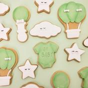 Neutral coloured baby shower cookies Bri
