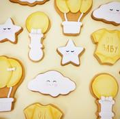 Gender neutral baby shower cookies Brisb
