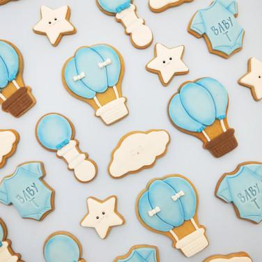 Boy baby shower cookies Brisbane