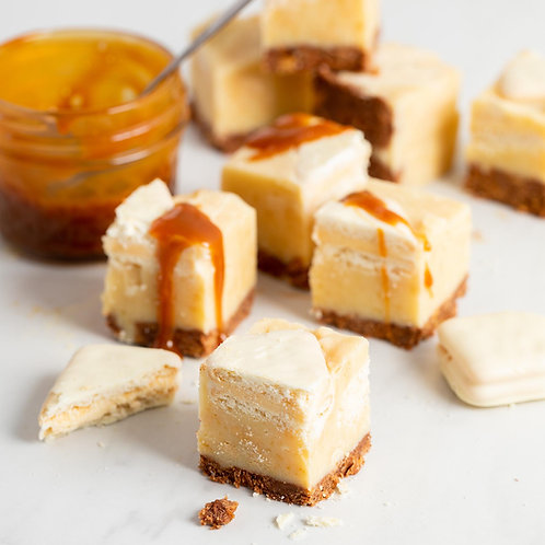 Malted Milk and White Chocolate with Caramel Fudge
