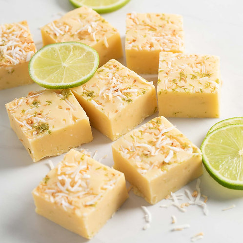 Lime and coconut fudge