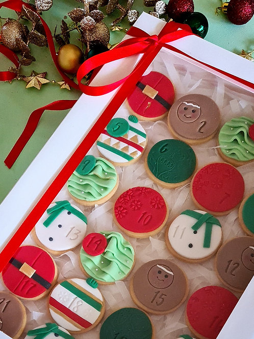 Christmas cookie advent calender