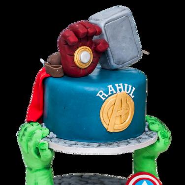 Avengers cake design by Cheryl Robinson.